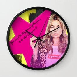 Fashion abstract poster Wall Clock