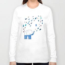 how an elephant showers Long Sleeve T-shirt