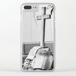 Grave with rose Clear iPhone Case