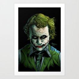 Heath Ledger Joker Art Print
