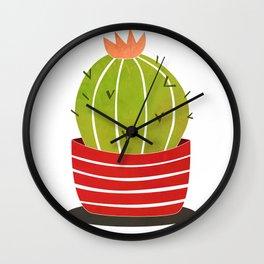 A cactus in a pot Wall Clock