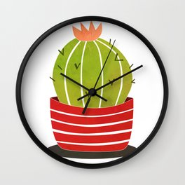 A cactus in a pot Wall Clock