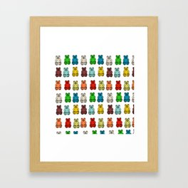 Cute Gummy Bear Candy Collage Framed Art Print