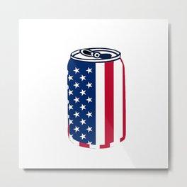 American Beer Can Flag Metal Print