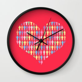 The Heart of the People Wall Clock