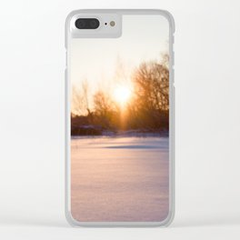 Winter on the lake Clear iPhone Case