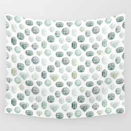 Green Gemstones Wall Tapestry
