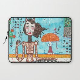 Deer centaur, mystic creature abstract geometric colorful figurative mixed media painting Laptop Sleeve