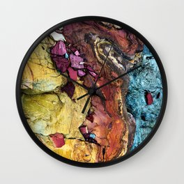 Colorful Nature : Texture Wall Clock