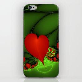 Dancing Red Hearts Fractal Art iPhone Skin