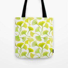 First Day of Autumn Ginkgo Leaves Tote Bag
