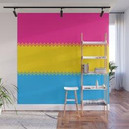 pixel pride- pansexual pride flag Wall Mural