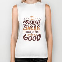 risa rodil Biker Tanks featuring I am up to no good by Risa Rodil