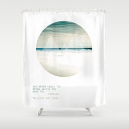 Leave the Shore Shower Curtain