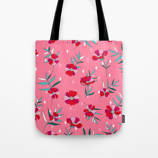Pink Summer Tote Bag