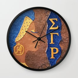 Sigma Gamma Rho Sister In Profile II Wall Clock