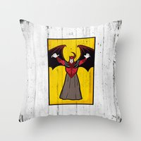 dungeons and dragons Throw Pillows featuring DUNGEONS & DRAGONS - AVENGER by Zorio