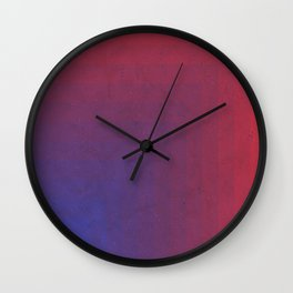 Abstract Rectangle Games - Gradient Pattern between Dark Blue and Moderate Red Wall Clock