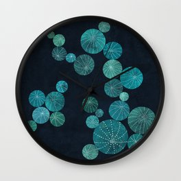Turquoise cactus field Wall Clock