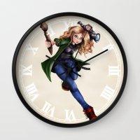loish Wall Clocks featuring Naomi Shingler by Naomi Shingler