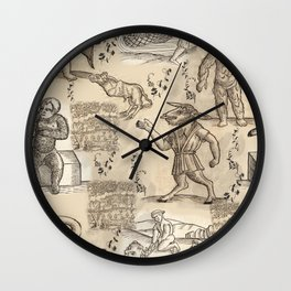 Medieval creatures Wall Clock