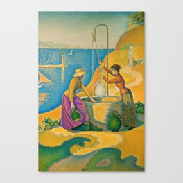 Women at the Well Canvas Print