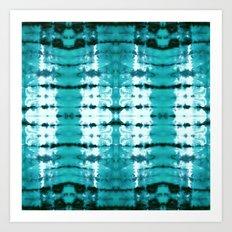 Aqua Satin Shibori Art Print