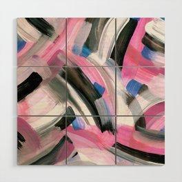 Crossing Pink Wood Wall Art