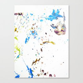 Uno Splatter  Canvas Print