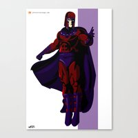 magneto Canvas Prints featuring Magneto by Andrew Formosa