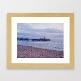 Malibu Pier Framed Art Print