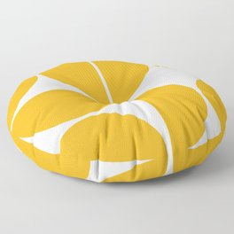 Mid Century Modern Yellow Square Floor Pillow