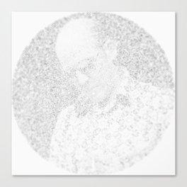 [De]generated ArcFace - Hunter S. Thompson Canvas Print