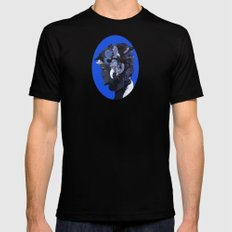 Lost in Thought MEDIUM Black Mens Fitted Tee