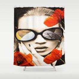 poppy pop (kate Moss) Shower Curtain