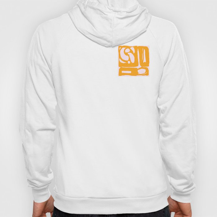 Abstract in Yellow and Cream Hoody