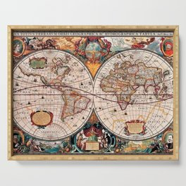 Gorgeous Old World Geographical Map Serving Tray