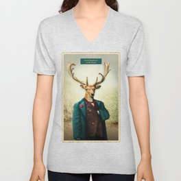 Lord Staghorne in the wood Unisex V-Neck
