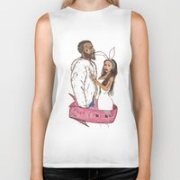 minaj Biker Tanks featuring pills and potions. by Late Bloomer