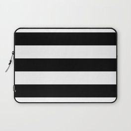 BLACK & WHITE STRIPES XL Laptop Sleeve