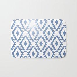 Aztec geometrics - chambray Bath Mat