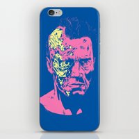 terminator iPhone & iPod Skins featuring Terminator (neon) by Liam Brazier