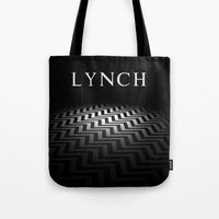 david lynch Tote Bags featuring Lynch by Spyck