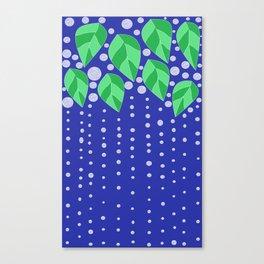 dots leaves Canvas Print