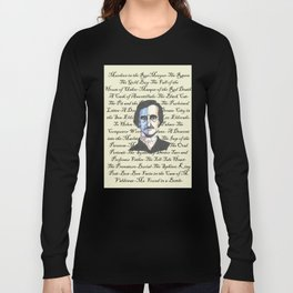 Poe Titles Long Sleeve T-shirt