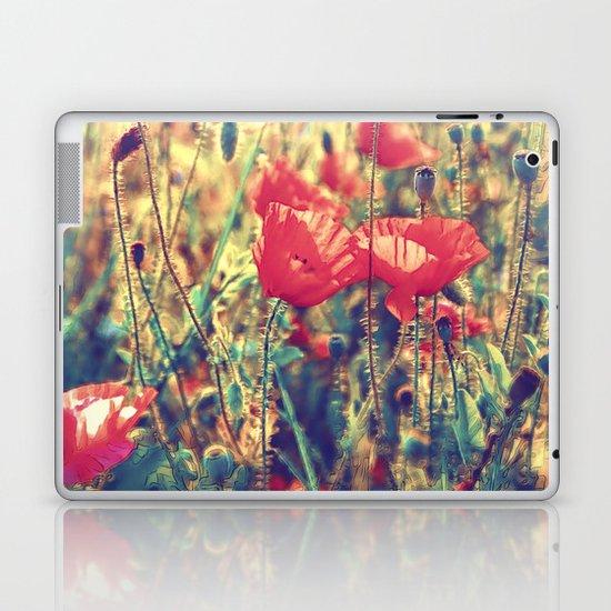 Morning Light - Poppy Field Laptop & iPad Skin
