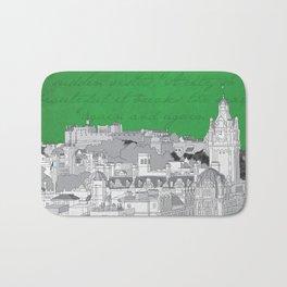 Edinburgh Skyline (Green) Bath Mat