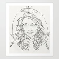 allison argent Art Prints featuring Allison by Wolfhearted