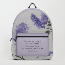 You make me love you...Theodore Finch. All The Bright Places. Backpack