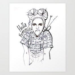 #STUKGIRL EMMA Art Print